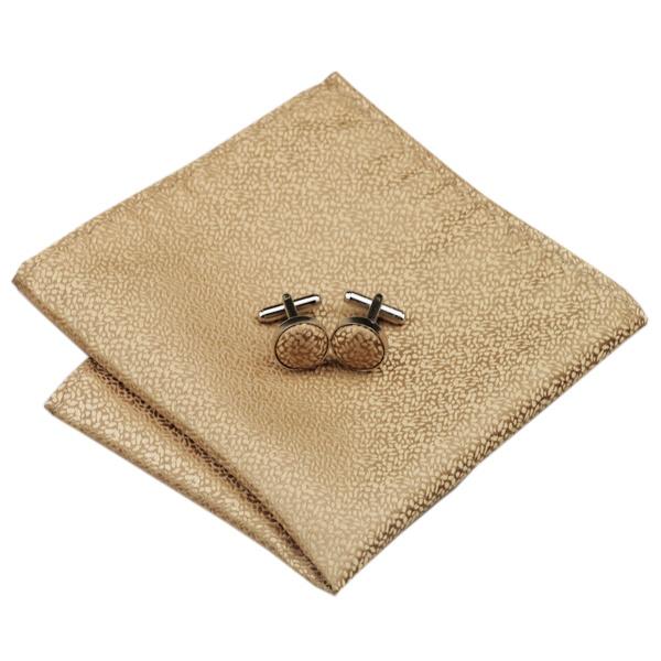 Wedding Ties DSTS-7532-Golden-Wedding-Tie-Handkerchief-Hanky-Cufflinks-Sets-Men-s-100-Silk-Ties-for-men-Formal