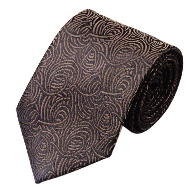 Tie and cufflink sets uk DSTS-7548-Brown-Tie-Hanky-Cufflinks-Sets-Men-s-100-Silk-Ties-for-men-Formal (1)