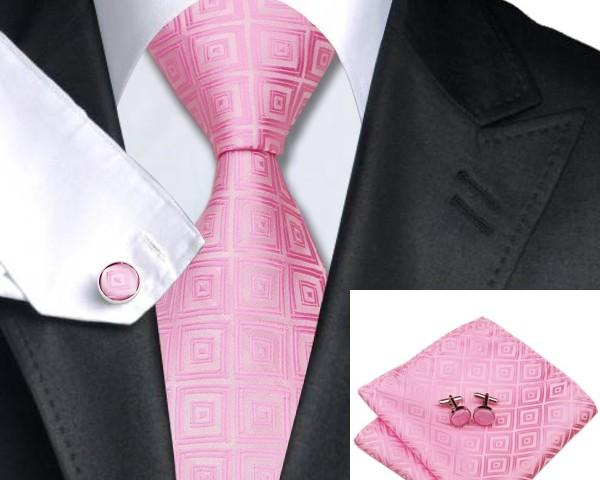 DSTS-7588-Pink-Wedding-Hanky-Cufflinks-Tie-Sets-Men-s-100-Silk-Ties-Handkerchief-for-men-Formal-Dapper