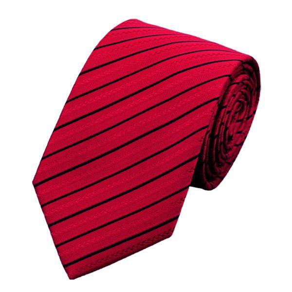 DSTS-7357-Red-Tie-Black-Striped-Men-s-Silk-Ties-Tie-Hanky-Cufflinks-Sets-for-men(1)