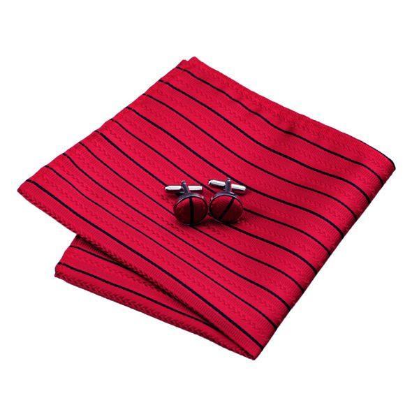 DSTS-7357-Red-Tie-Black-Striped-Men-s-Silk-Ties-Tie-Hanky-Cufflinks-Sets-for-men(2)