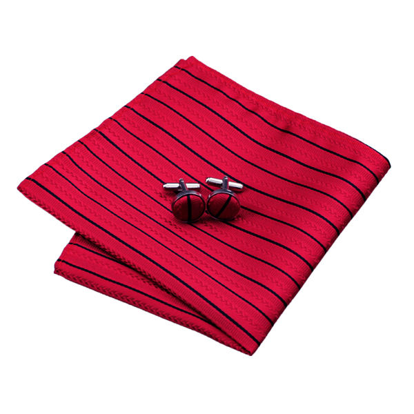 DSTS-7357-Red-Tie-Black-Striped-Men-s-Silk-Ties-Tie-Hanky-Cufflinks-Sets-for-men(2)