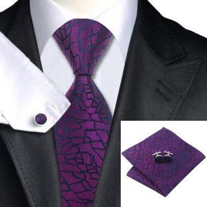 Tie Handkerchief cufflinks Set